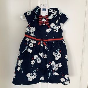Toddler 12-18m Dress with 2 barrettes
